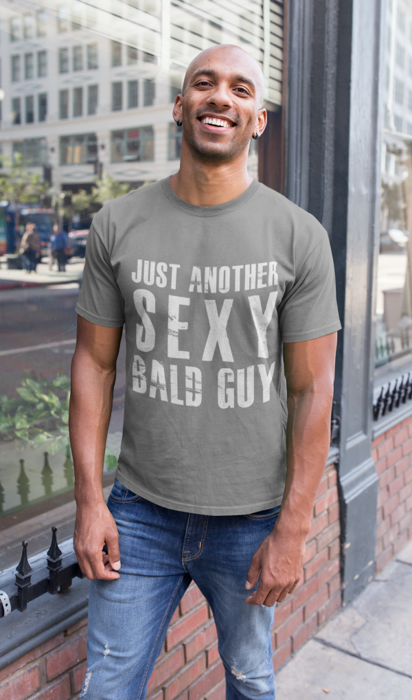 Grey-tshirt-bald-man